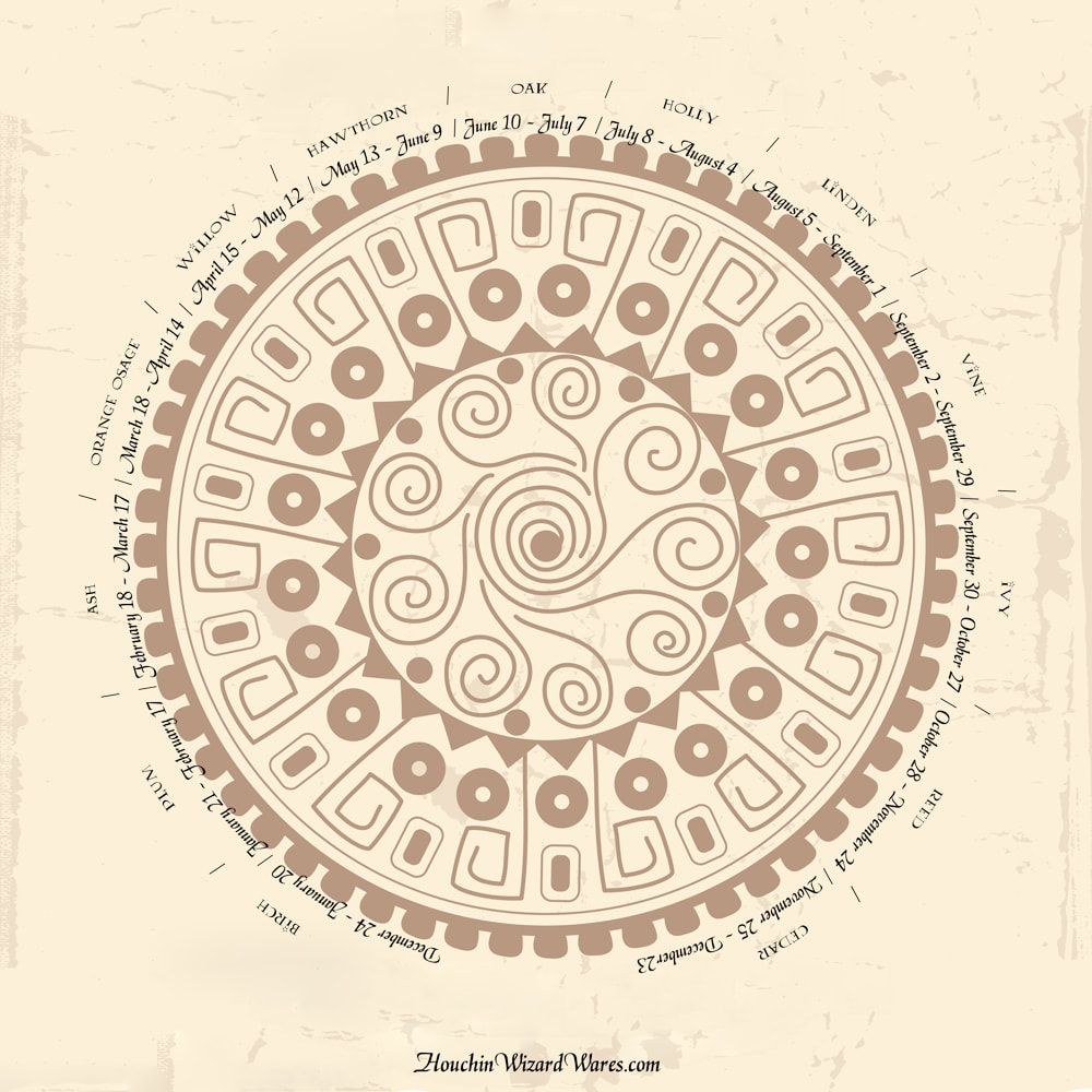 Celtic Calendar Wood : Wand woods by birthdate houchin s house of wizarding wares